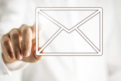 Email icon on virtual interface